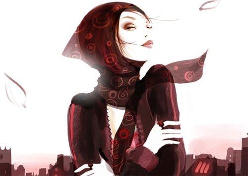新锐插画家索菲·格莉奥托时尚插画图片