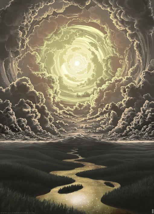 Jeffrey Smith气势恢宏的天空场景插画
