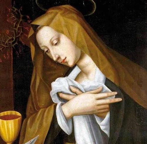 涅利画作《悲伤的圣母》。