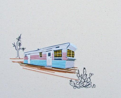 艺术家Stephanie K Clark堪比手绘插画的细腻针线刻画