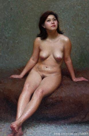 靳尚谊 《坐着的女人体》 90×60cm 2004嘉德春拍拍出121万元