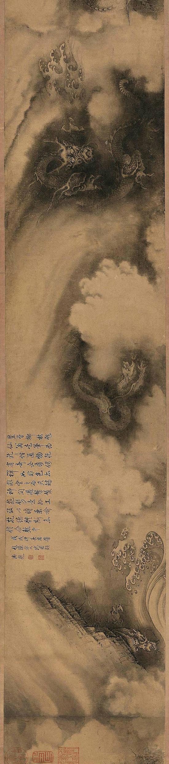 南宋《六龙图》开创水墨画龙的先河 原为乾隆所有(图)