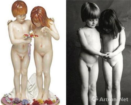 摄影师让·弗朗索瓦·博雷作品V.S.杰夫·昆斯雕塑作品《裸体》