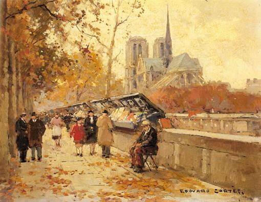 巴黎油画风景图1