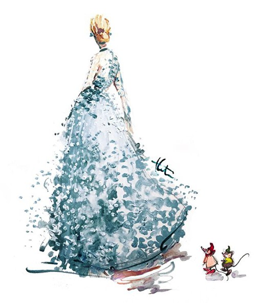 插画师Katie Rodgers的唯美礼服美式插画