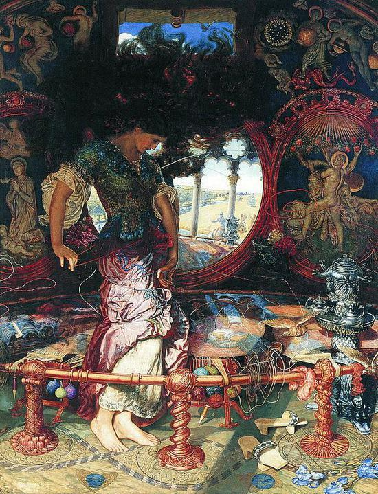 William Holman Hunt , Lady of Shalott , 1905