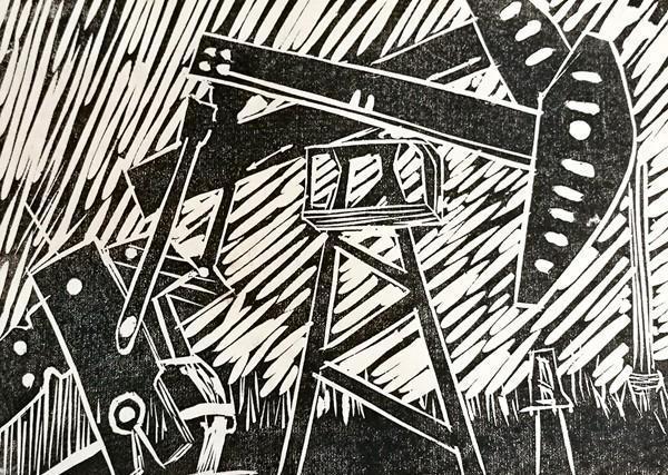 """工业印痕——木刻版画工作坊""""5月5日在黑龙江省美术馆举办(组图)"""