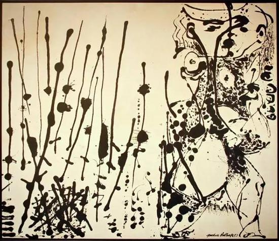 杰克逊·波洛克,《1951年第7号》。布面油画,142×168厘米。华盛顿美国国家美术馆收藏;美术馆收藏委员会馈赠