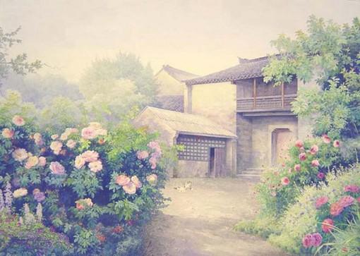 画家黄有维老北京水彩画图片