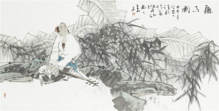 中国当代人物画名家:柒万里(组图)