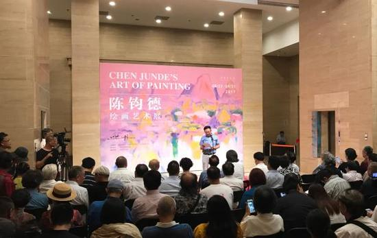 中国美术馆陈钧德画展开幕仪式