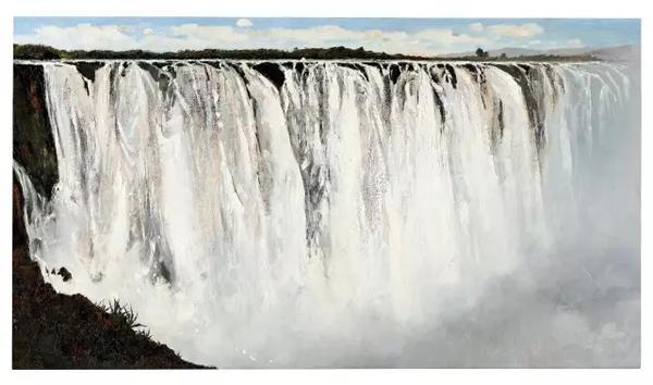 吴冠中 坦桑尼亚大瀑布