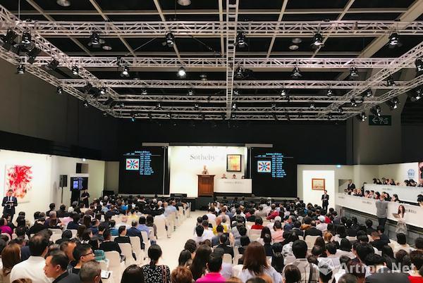 9月30日,香港蘇富比现当代艺术晚间拍卖现场