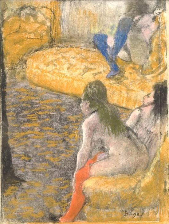 《等待客户》(Waiting for a Client),埃德加·德加,1879年