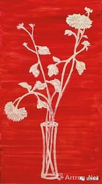 常玉《红底白菊》北罗芙奥2017春拍专场 2.8亿台币(人民币6300万)