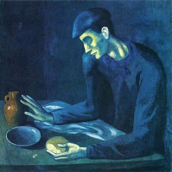 毕加索 Picasso - 盲人的早餐