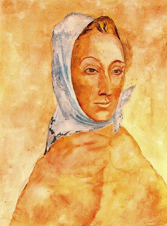 毕加索 Picasso - Portrait of Fernande Olivier in Headscarves