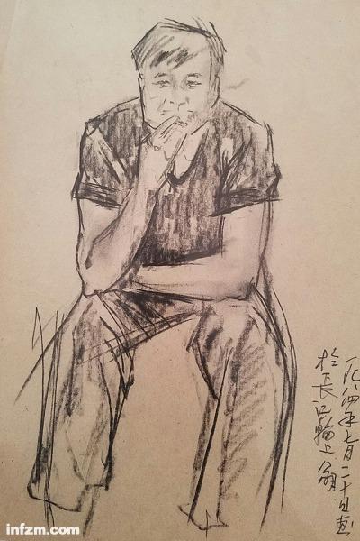 青年供销员,1984年7月20日画于长江轮上(李公明图)