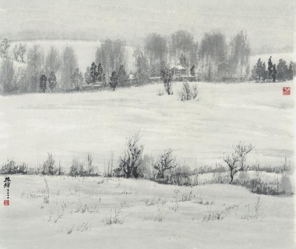 飘雪的故乡  65×75cm.png