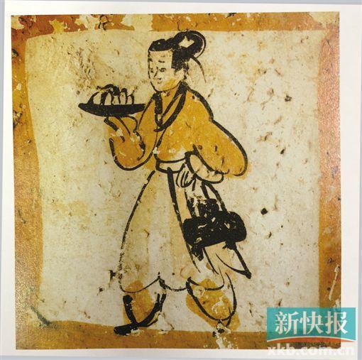 魏晋 进食图砖画 嘉峪关市文物管理所藏