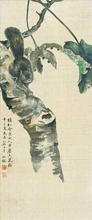 中国画学研究会创始人之一金城作品