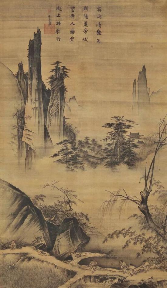 《踏歌图》 马远 191.8 x 104.5 cm 北京故宫博物馆藏