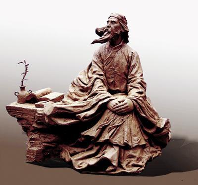 黄宗羲(铸铜) 30cm×40cm×60cm 鲍海宁