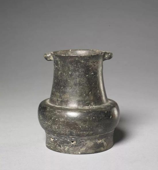 龙山文化黑陶双系壶