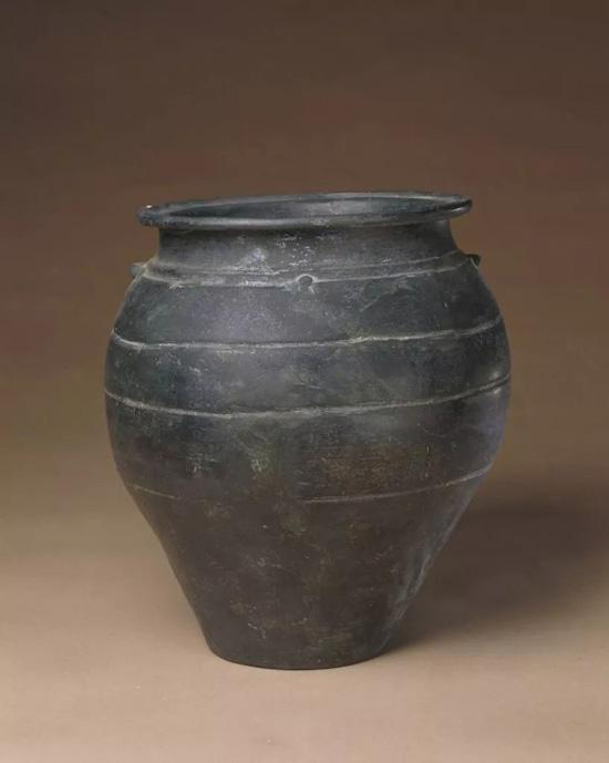 龙山文化黑陶双系罐