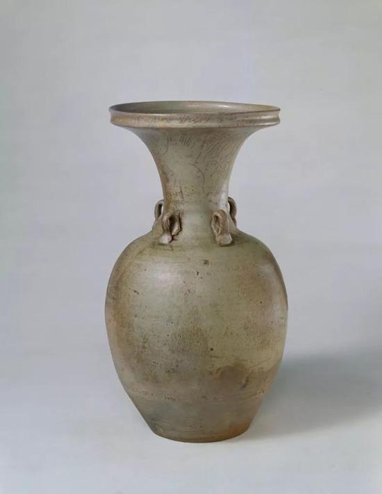 唐 越窑青釉四系瓶