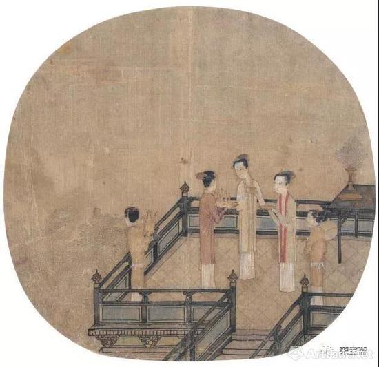 图1 宋 佚名 瑶台步月图 故宫博物院藏