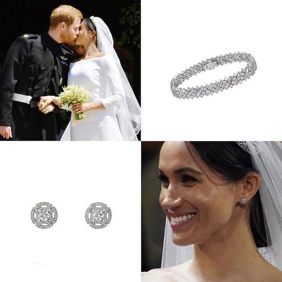 北京时间5月19日,英王室哈里王子与梅根王妃大婚,这场婚礼上的每一个细节都是世界关注的焦点。她佩戴的手环和耳钉都来自卡地亚,冠冕则借自伊丽莎白女王二世