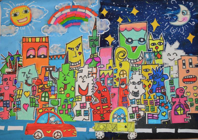 2018年安奈儿创意大赛银奖作品《里兹的快乐房子家族》 7岁 冯紫灵