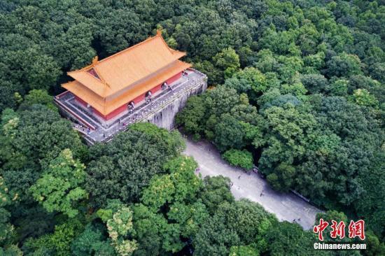 资料图:航拍南京明陵。中新社记者 泱波 摄