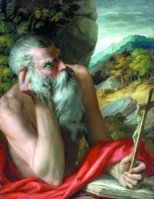 苏富比2012年卖出一幅疑似意大利画家帕尔米贾尼诺之作《圣·杰罗姆》,2016年,马丁鉴定其为膺品。