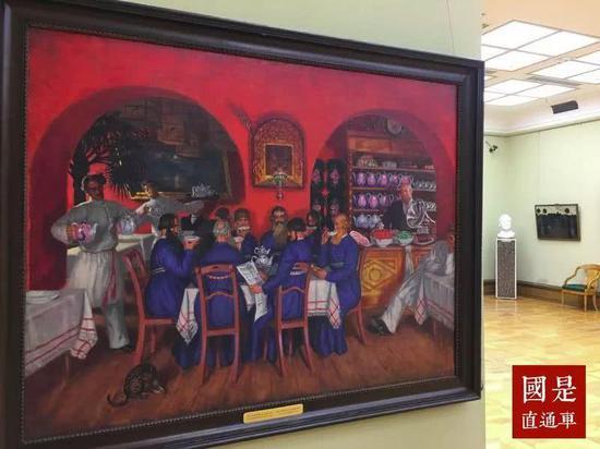 油画《莫斯科的旅馆》记者夏宾 摄
