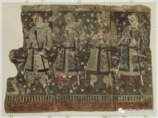 龟兹供养人 克孜尔第8窟 现藏德国柏林亚洲艺术博物馆
