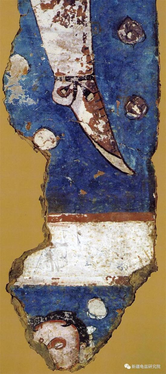 龟兹供养人残片 克孜尔尕哈石窟 现藏法国巴黎集美博物馆