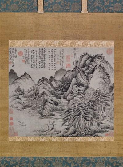元代画家王蒙《泉声松韵图》,东京中央拍卖行拍出,落槌价1.51亿港元。