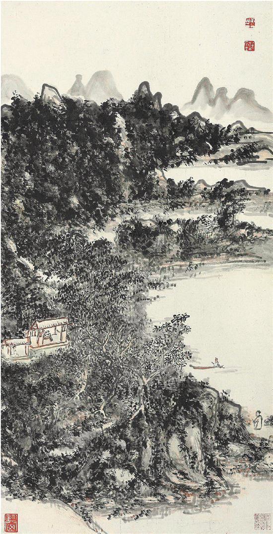 黄宾虹 山水轴(资料图片)