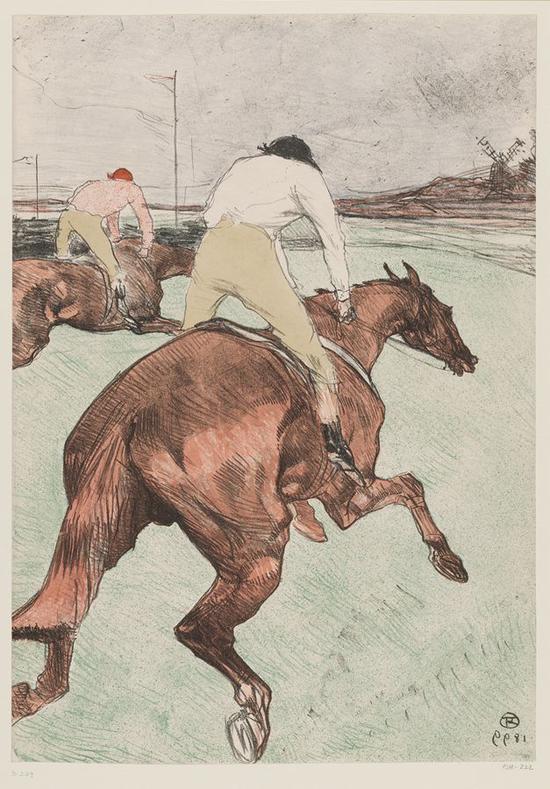 骑师 1899年 彩色石版画