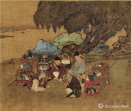 前蜀 李昇(传) 货郎图 27cm×20cm 故宫博物院藏