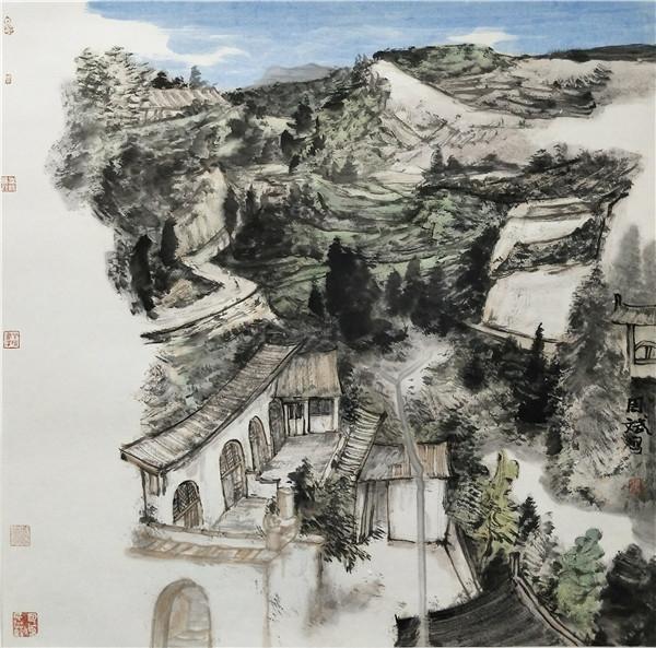 周斌2017-李家山写生-68x68cm.JPG