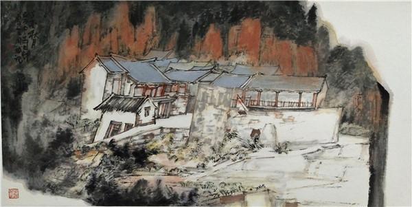 周斌2017-山西阳城中寺写生-46x68cm.JPG