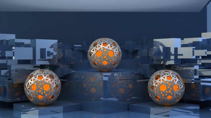 Balls_rack_wire_mesh-3D_Artwork_Vector_Wallpaper_1366x768