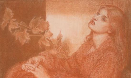 粉彩素描,但丁·加百利·罗塞蒂