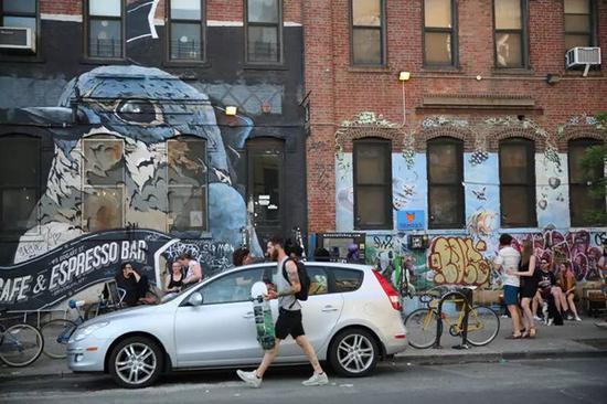 ▲ 纽约布鲁克林涂鸦