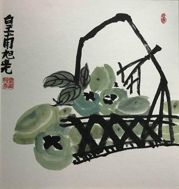 J860001041-墨蘭艺术工坊-皇甫旭尧-男-9岁-《一篮柿子》-指导老师:翟光明.jpg