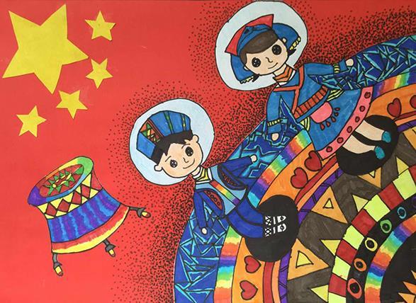 J860101002-介休市万唯美术培训中心-侯俊杰-男-11岁-《国泰民安》-指导老师:韩晓琴.jpg