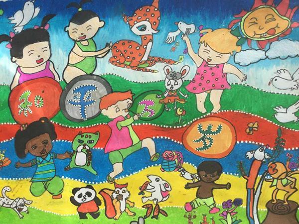 J860101016-介休市萬唯美術培訓中心-田睿-女-9歲-《和平萬歲》-指導老師:韓曉琴.jpg